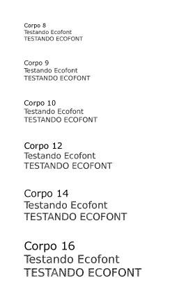 Teste da Ecofont